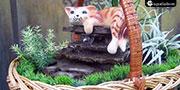 """""""Котёнок в корзинке"""" подарочный фонтан,"""