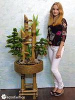 Купить фонтан из бамбука