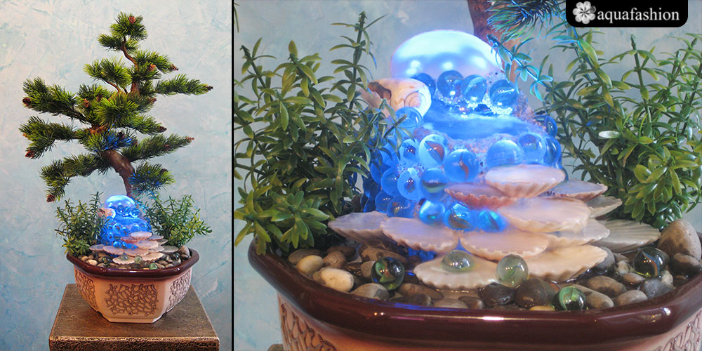 Декоративные фонтаны для квартиры настольные своими руками 91
