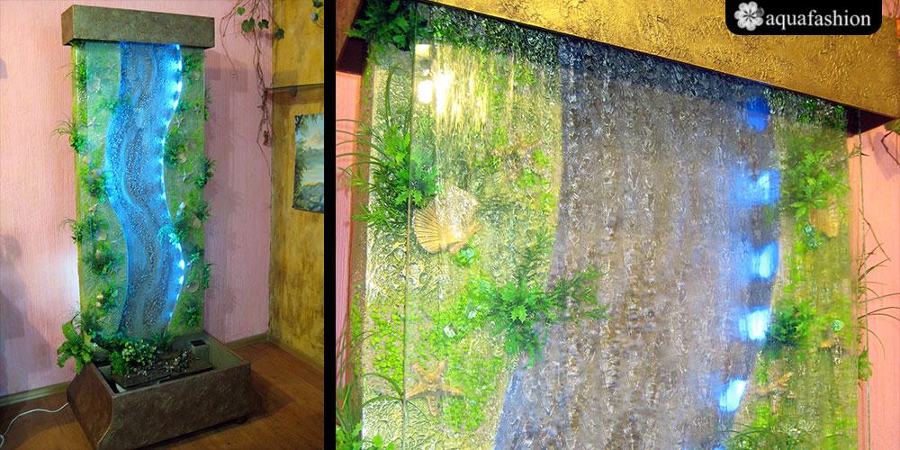 Водопады по стеклу комнатные